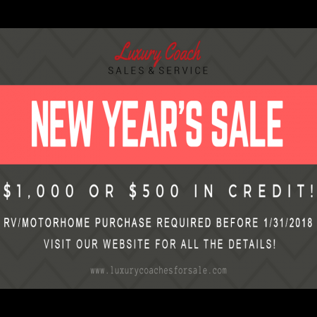 New Year Sale at Luxury Coaches for Sale
