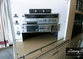 View of the Sound System of 1985 MCI 96-A3 at Luxury Coach
