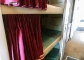 View of the 3 Bunks of 1985 MCI 96-A3 at Luxury Coach