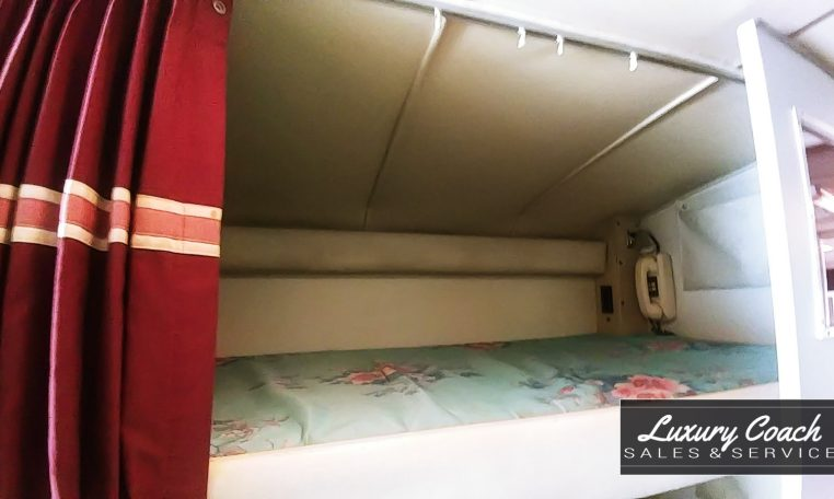 View of the Bunk of 1985 MCI 96-A3 at Luxury Coach