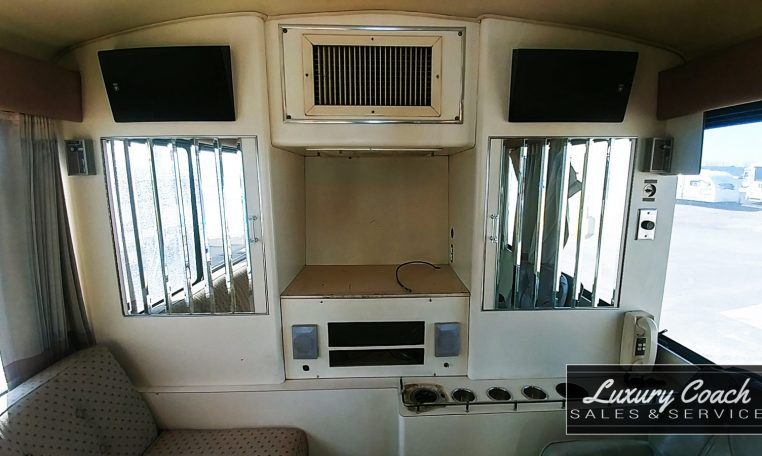 View of the Meeting Room Back Wall of 1985 MCI 96-A3 at Luxury Coach