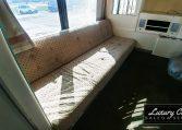 View of the Meeting Room Sofa of 1985 MCI 96-A3 at Luxury Coach