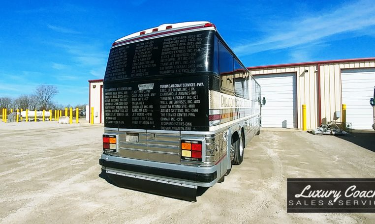 View of Back side of 1985 MCI 96-A3 at Luxury Coach