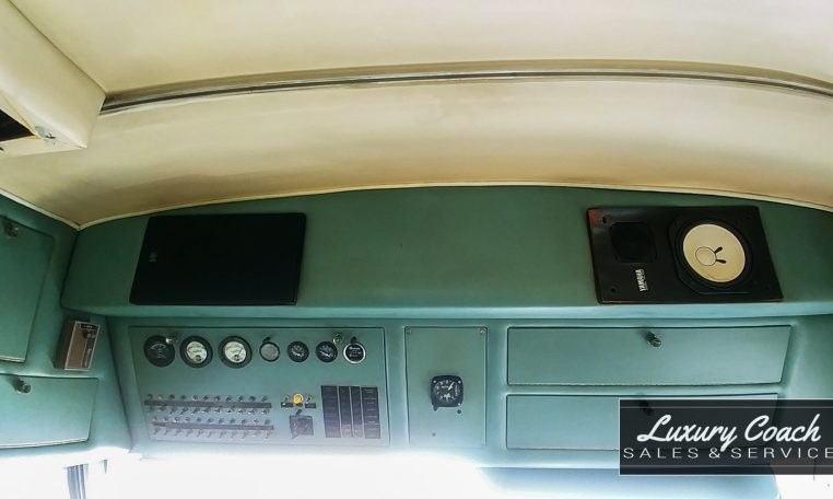 Second View of the Drivers Area Overhead of 1985 MCI 96-A3 at Luxury Coach