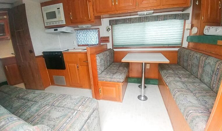 View of the Entryway in a 1999 Sundowner Horse Trailer at Luxury Coach
