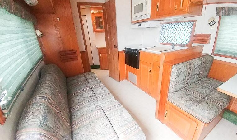 View of the Galley in a 1999 Sundowner Horse Trailer at Luxury Coach