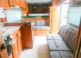 View of the Living Quarters in a 1999 Sundowner Horse Trailer at Luxury Coach