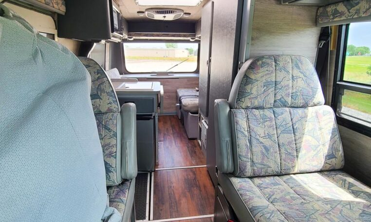 2000 Winnebago Rialta at Luxury Coach Seating Area